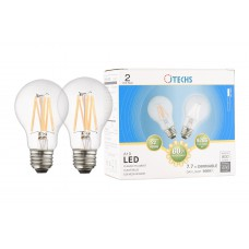 800 LUMEN DAY LIGHT 60W REPLACEMENT A19 CLEAR E26 2-PACK