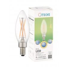 400 LUMEN WARM WHITE 40W REPLACEMENT B10 CLEAR E12 1-PACK